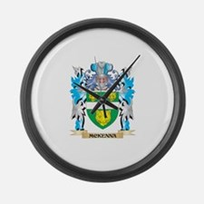 Mckenna Coat of Arms - Family Cre Large Wall Clock