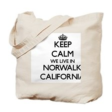 Keep calm we live in Norwalk California Tote Bag