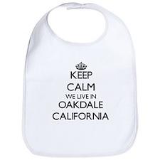 Keep calm we live in Oakdale California Bib