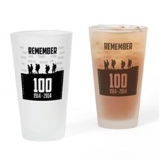 World War I Remembrance Drinking Glass