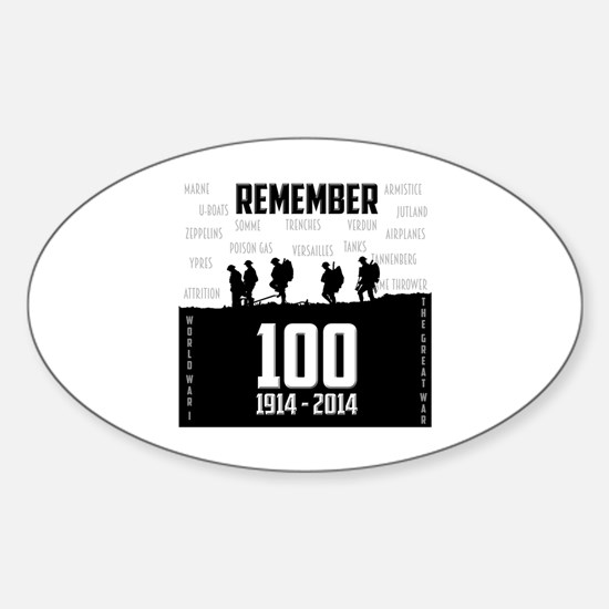 World War I Remembrance Sticker (Oval)
