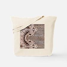 rustic wood lace Tote Bag