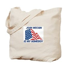 JOHN MCCAIN is my homeboy Tote Bag