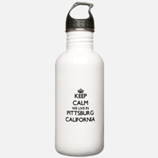 Keep calm we live in P Water Bottle