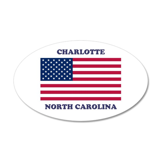 Charlotte North Carolina Wall Decal By Timsamericanflagshop