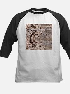 rustic wood lace Baseball Jersey