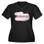 Bridesmaid Women's Plus Size V-Neck Dark T-Shirt
