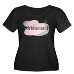 Bridesmaid Women's Plus Size Scoop Neck Dark T-Shi
