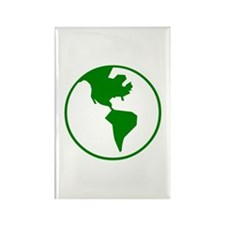 Green Earth Rectangle Magnet