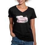Junior Bridesmaid Women's V-Neck Dark T-Shirt