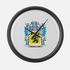 Mcmillan Coat of Arms - Family Cr Large Wall Clock