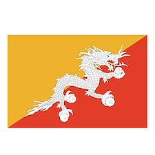 Bhutan Flag Postcards (Package of 8)