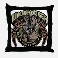 Woodbooger Black Sweetwater Ale Throw Pillow