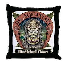 Dr. Squatchs Medicinal Cigars Throw Pillow