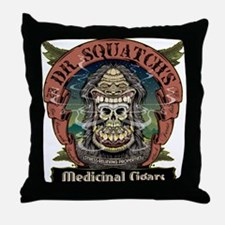 Dr. Squatchs Medicinal Cigars Throw Pillow