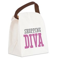 Shopping DIVA Canvas Lunch Bag