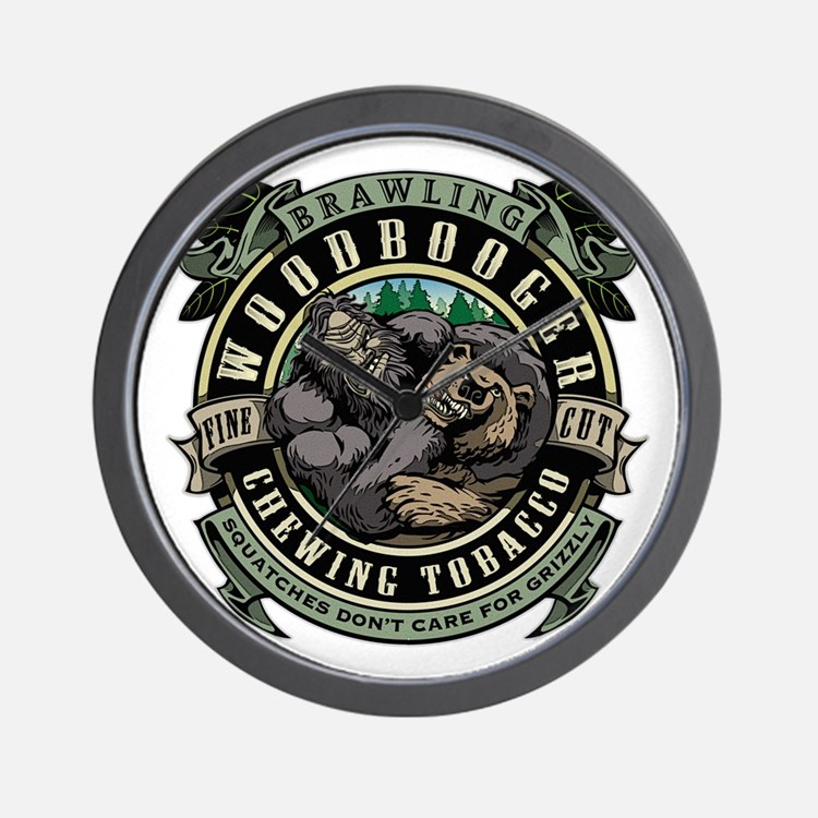 Brawling Woodbooger Chewing Tobacco Wall Clock