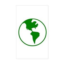 Green Earth Rectangle Decal