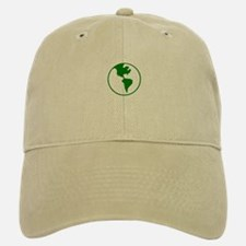 Green Earth Baseball Baseball Cap