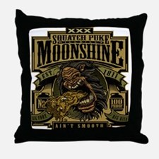 Squatch Puke Hillbilly Moonshine Throw Pillow