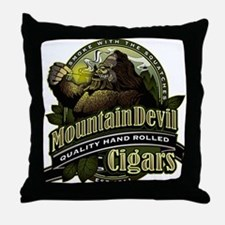 Mountain Devil Cigars Throw Pillow