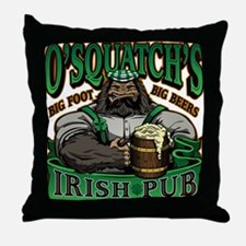 OSquatchs Irish Pub Throw Pillow