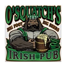 OSquatchs Irish Pub Tile Coaster
