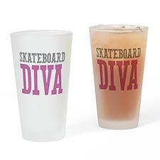 Skateboard DIVA Drinking Glass