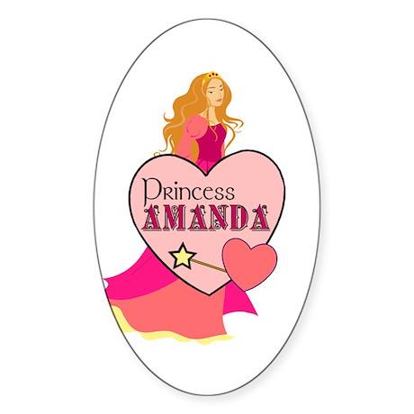 Princess Amanda Oval Sticker