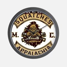 Red Squatches M.C. Appalachia Wall Clock