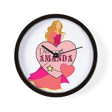 Princess Amanda Wall Clock