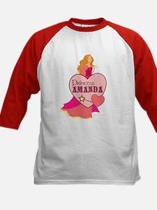 Princess Amanda Kids Baseball Jersey