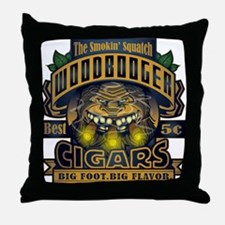 Wood Booger Cigars Throw Pillow