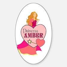 Princess Amber Oval Decal