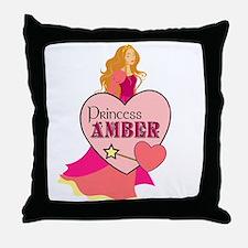 Princess Amber Throw Pillow