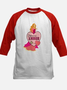 Princess Amber Kids Baseball Jersey