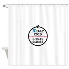 Pi Day 2015 Shower Curtain