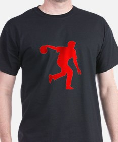 Red Bowler Silhouette T-Shirt