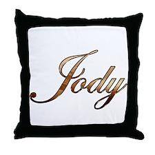 Gold Jody Throw Pillow