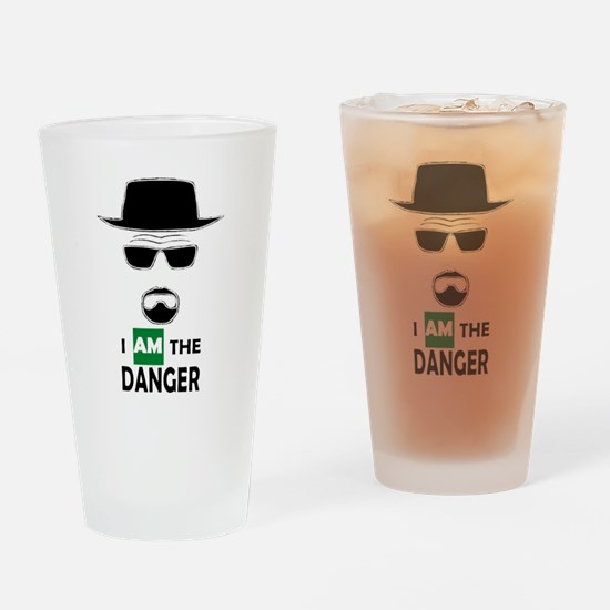 I Am The Danger Drinking Glass