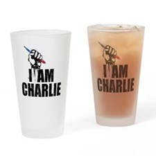 I AM CHARLIE Drinking Glass
