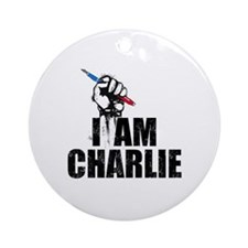 I AM CHARLIE Round Ornament