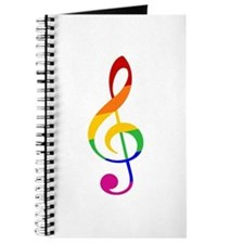 Rainbow Music G Clef Journal