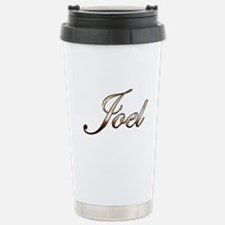 Gold Joel Travel Mug