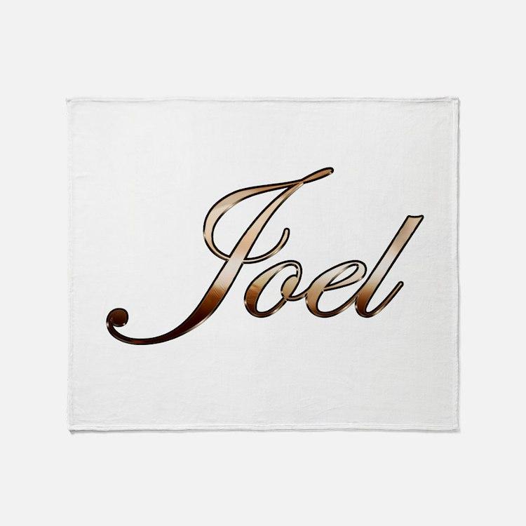 Gold Joel Throw Blanket