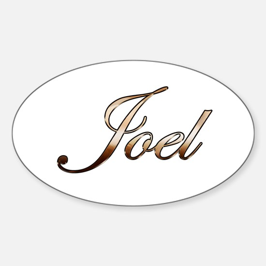 Gold Joel Decal