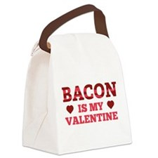 Bacon Is My Valentine Canvas Lunch Bag