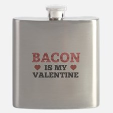 Bacon Is My Valentine Flask