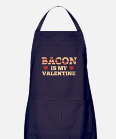 Bacon Is My Valentine Apron (dark)
