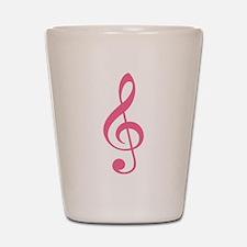 Pink Music G-Clef Shot Glass